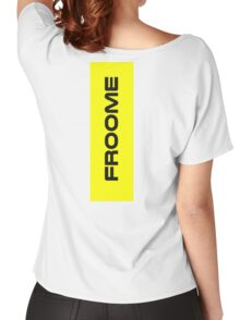 Chris Froome Yellow Women's Relaxed Fit T-Shirt
