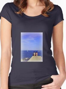Waiting for Sunset Women's Fitted Scoop T-Shirt
