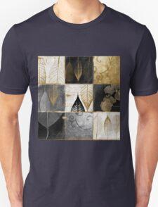 Fallen Gold Autumn Leaves Patchwork Unisex T-Shirt