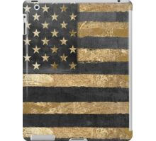 American Flag Gold and Black  iPad Case/Skin