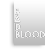 Bastille - Bad Blood #2 Canvas Print