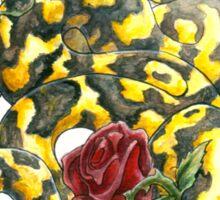 Snake 'n' Roses Sticker