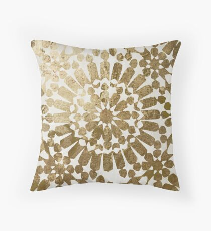 Moroccan Gold I Throw Pillow