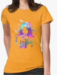 Beautiful Watercolor Girl Womens Fitted T-Shirt
