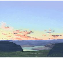 sunset at the gorge Photographic Print