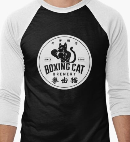 Boxing Cat Brewery Chinese Beer Men's Baseball ¾ T-Shirt