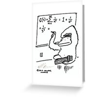 Slide Rule Ape Solves Equation Greeting Card