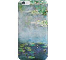 1906 Water Lilies oil on canvas.  Famous vintage fine art by Claude Monet. iPhone Case/Skin