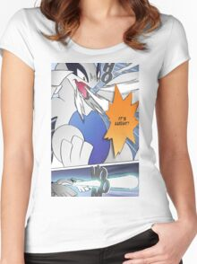 It's Lugia!! Manga Edit Women's Fitted Scoop T-Shirt