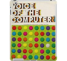 The Voice Of The Computer vintage lp cover iPad Case/Skin