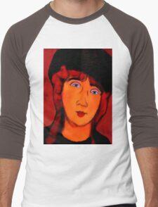 portrait of lolottle Men's Baseball ¾ T-Shirt
