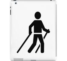 Nordic Walking logo iPad Case/Skin
