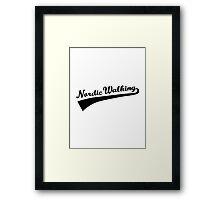 Nordic Walking Framed Print