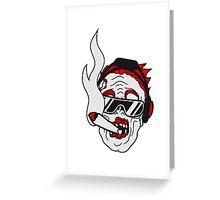 party dj joint rauchen kopfhörer musik cool sonnenbrille gesicht horror halloween kopf zombie böse gruselig cartoon  Greeting Card