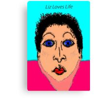 Liz Loves Life Canvas Print