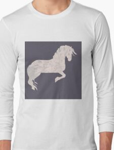 Pink Marbled Pony Long Sleeve T-Shirt