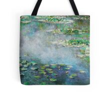 1906 Water Lilies oil on canvas.  Famous vintage fine art by Claude Monet. Tote Bag