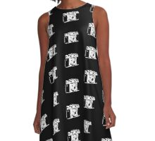 Retro Camera - Photographer T-Shirt Sticker A-Line Dress