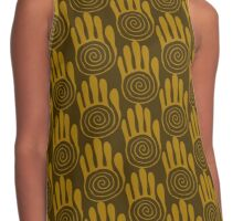 Native American Hand 6 Contrast Tank