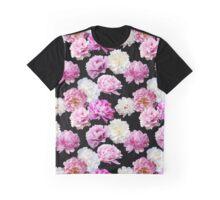 Photographic Peony Print Graphic T-Shirt