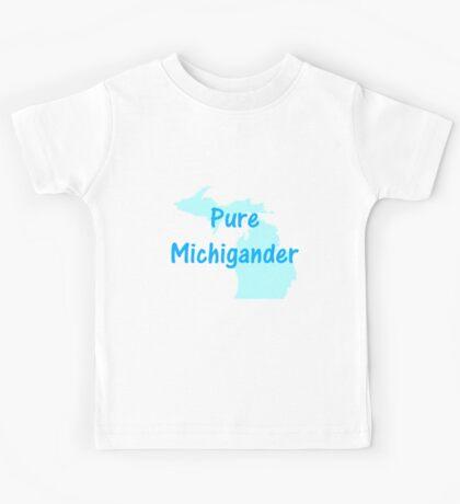 Pure Michigander (white) Kids Tee