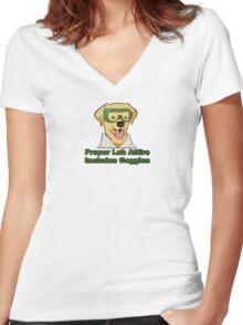 Proper Lab Attire Women's Fitted V-Neck T-Shirt