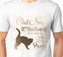Chat Noir Vintage Paris Sign Unisex T-Shirt