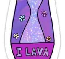 i love you lava lamp Sticker