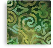 Native Elements Ocean Green Canvas Print