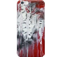 Red Trees iPhone Case/Skin