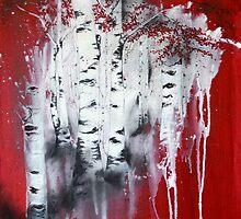 Red Trees by mylesantstudios