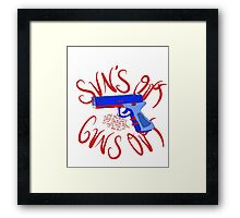 Please Outlaw Assault Weapons Framed Print