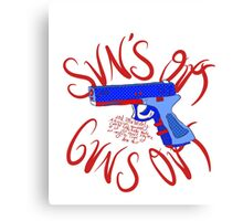 Please Outlaw Assault Weapons Canvas Print