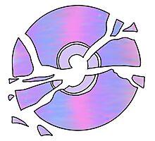 multicolor broken cd Photographic Print