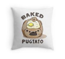 Baked Pugtato Throw Pillow