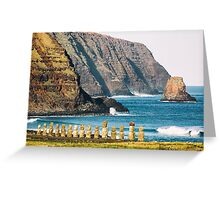 Tongariki 15 - Easter Island, Chile Greeting Card