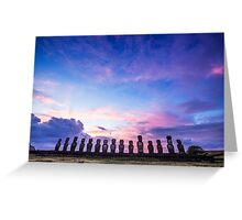 Tongariki Sunrise - Easter Island, Chile Greeting Card