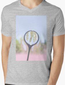 Cactus Magnified Mens V-Neck T-Shirt