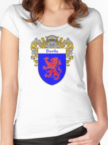 Davila Coat of Arms/Family Crest Women's Fitted Scoop T-Shirt