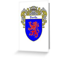 Davila Coat of Arms/Family Crest Greeting Card