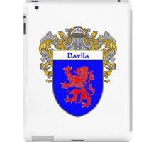 Davila Coat of Arms/Family Crest iPad Case/Skin