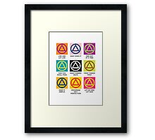 AA Anniversary Card Framed Print