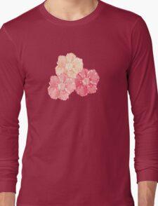Blossoms (Aqua) Long Sleeve T-Shirt