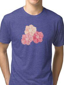 Blossoms (Aqua) Tri-blend T-Shirt