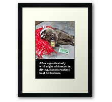 Birthday Card: Roadkill Framed Print
