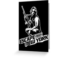 Snake Plissken (Escape from New York) Greeting Card