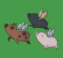 Flock of Flying Pig Baby Tee