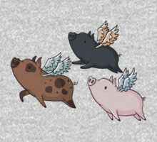 Flock of Flying Pig One Piece - Long Sleeve