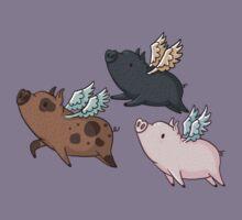 Flock of Flying Pig Kids Tee