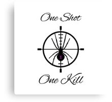 One Shot, One Kill Canvas Print